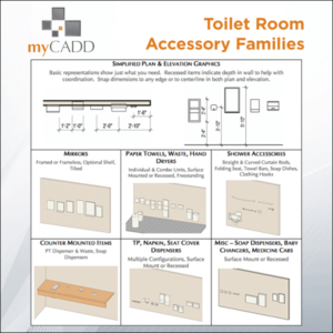Revit Toilet Room Accessory Collection