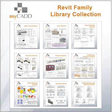 myCADD Revit Family Library Collection: 9-Pack